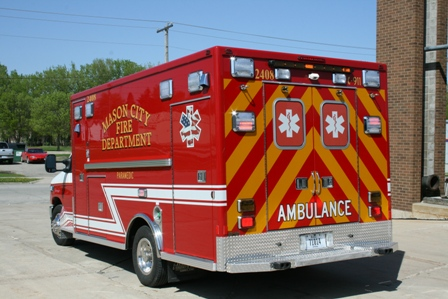 Mason CIty's newest ambulance arrived in April 2010