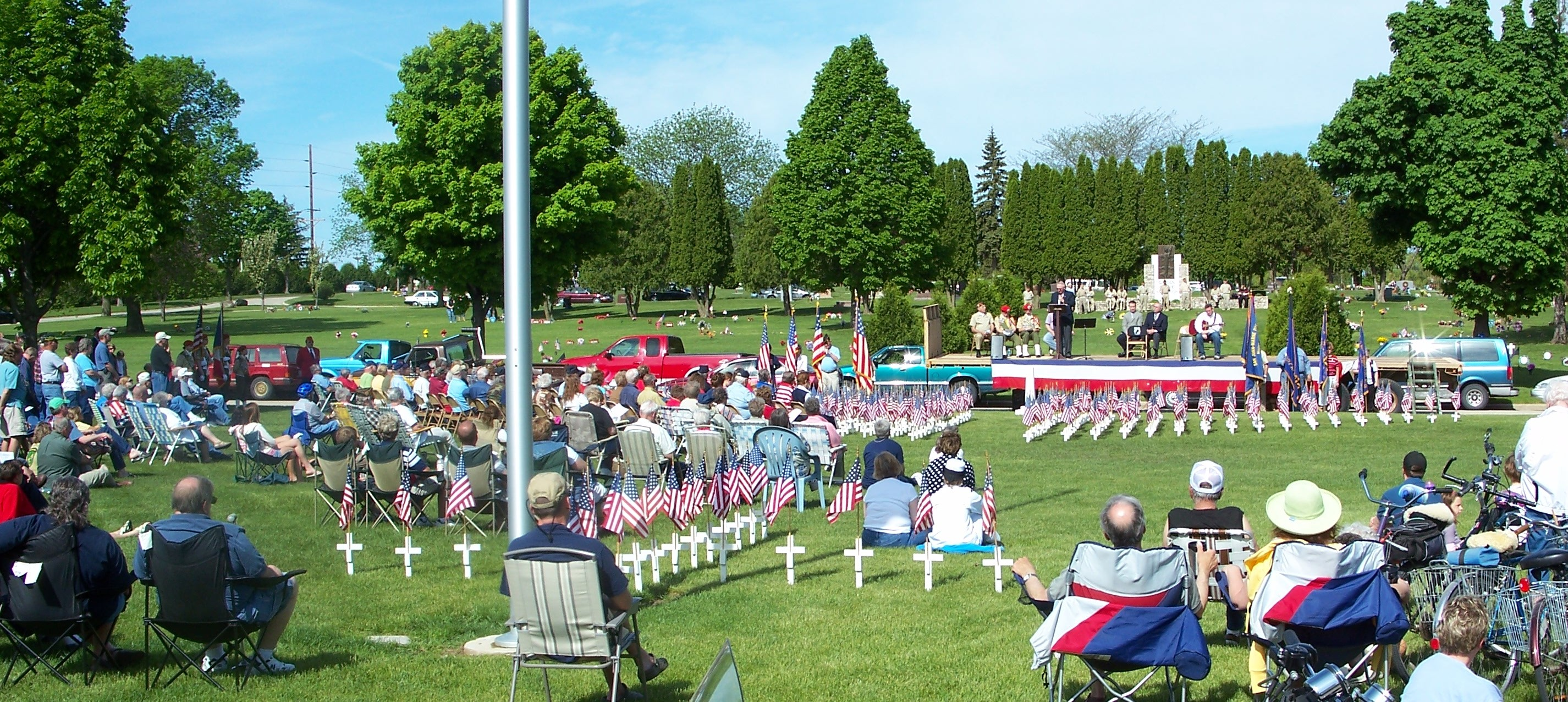 Memorial Day Program in area dedicated to Veterans of Foriegn Wars